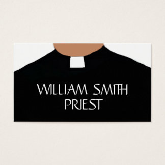 Elegant Priest Collar Business Card