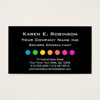 Elegant Primary Colors Decorator Consultant Business Card
