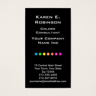 Elegant Primary Polka Dots Color Consultant Chic Business Card