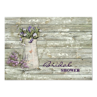 elegant primitive lavender rustic country card