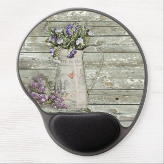 elegant primitive lavender rustic country gel mouse pad