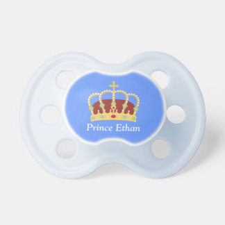Elegant Prince Crown with Jewels for Baby Boys Pacifier
