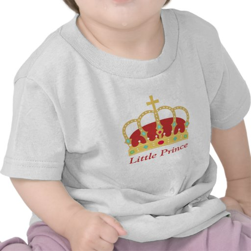Elegant Prince Crown with Jewels for Baby Boys Shirts