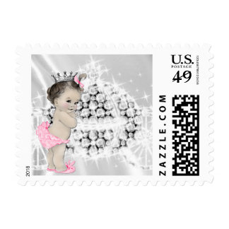 Elegant Princess Baby Shower Postage Stamp