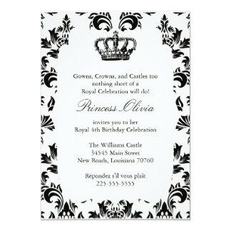 Elegant Princess Birthday Party Card