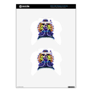 Elegant princess illustration with butterfly xbox 360 controller skin