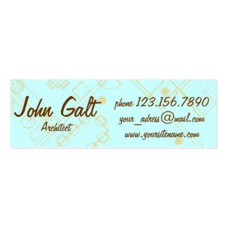 Elegant Professional Architect Mini Business Card