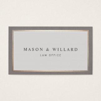 Elegant Professional Attorney Gold Border Business Card