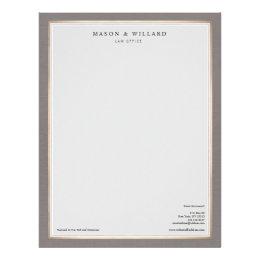 Lawyer letterhead zazzle elegant professional attorney gold border letterhead spiritdancerdesigns Images