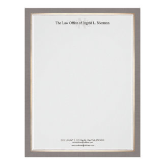 Elegant Professional Attorney Gold Border Letterhead