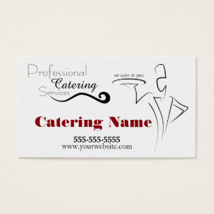 Elite business cards templates zazzle elegant professional catering business cards solutioingenieria Images