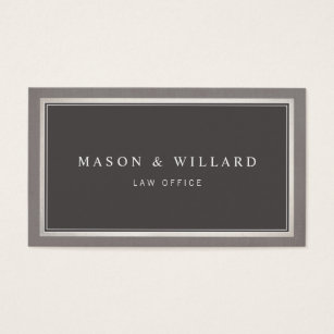 Law firm business cards templates zazzle elegant professional charcoal gray business card colourmoves Images