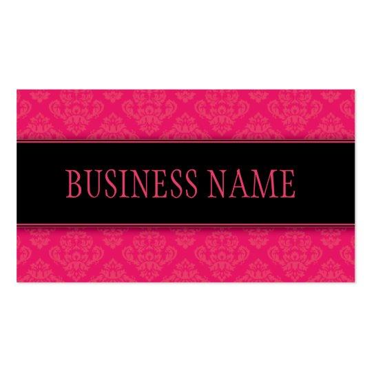 Elegant Professional Damask Floral Stylish Classy Business Card