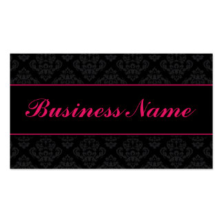 Elegant Professional Damask Floral Stylish Classy Business Card