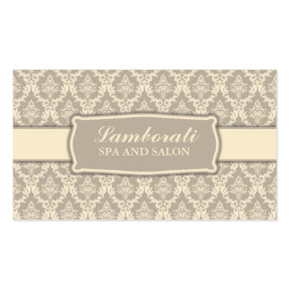 Elegant Professional Damask Interior Decorator Double-Sided Standard Business Cards (Pack Of 100)