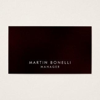 Elegant Professional Dark Red Plain Business Card