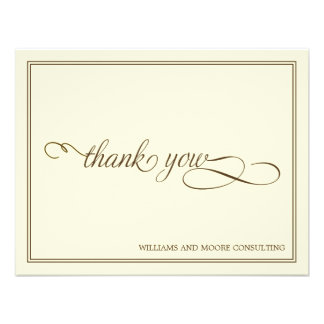 Elegant Professional Flat Thank You Card Personalized Invite