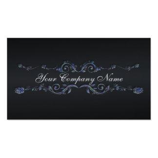Elegant Professional Flourish black business cards