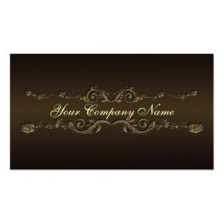 Elegant Professional Flourish brown business card