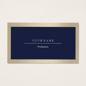 Professional Business Elegant Professional Frame Ivory Gold Navy Business Card