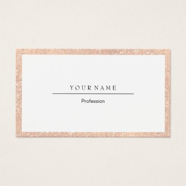 Professional Business Elegant Professional Frame Peach Coral Crystal Business Card