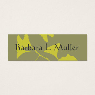 Elegant Professional  Glowing Ginkgo Asian Flair Mini Business Card