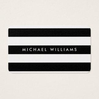 Elegant professional golden black and white zebra business card