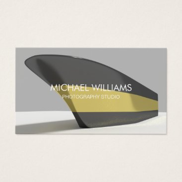 Beach Themed Elegant professional golden black boat business card