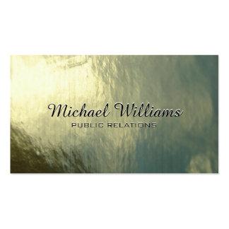 Elegant professional golden metal shining business card