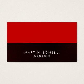 Elegant Professional Grey Red Stripe Business Card