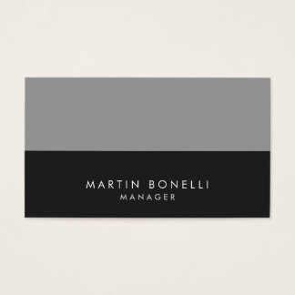 Elegant Professional Grey Stripes Business Card