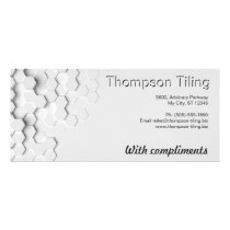 Elegant Professional Hexagon Tile Pattern Modern Rack Card