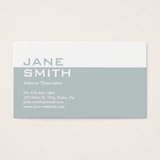Genial Elegant Professional Interior Design Decorator Business Card