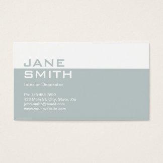 Elegant Professional Interior Design Decorator Business Card