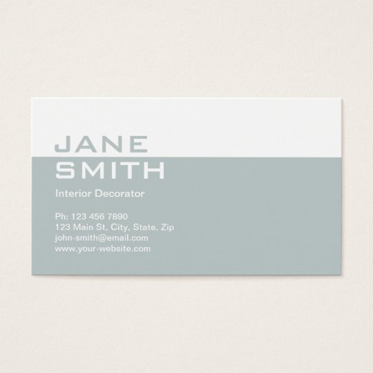 Elegant Professional Interior Design Decorator Business Card Zazzle