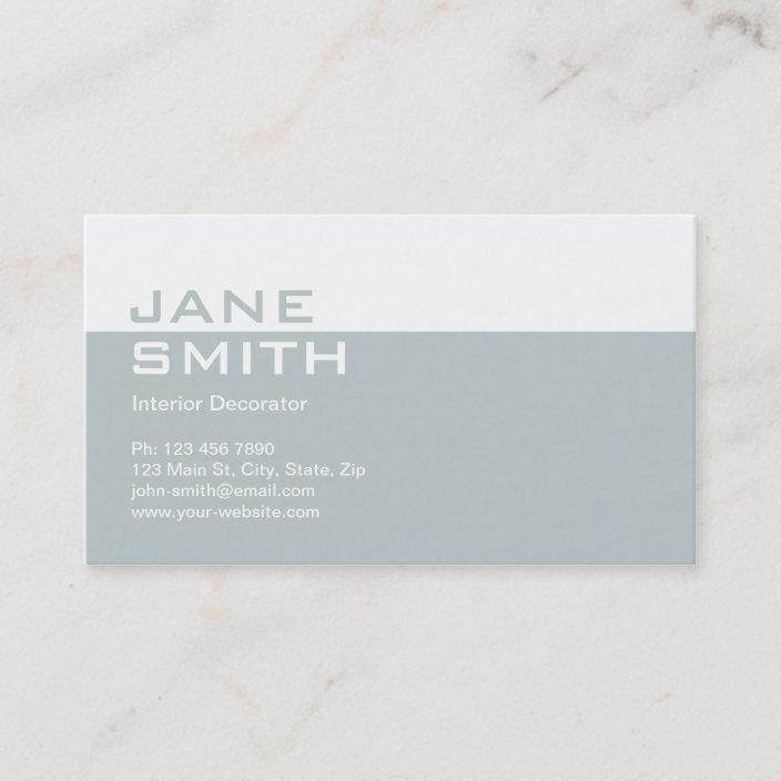 Elegant Professional Interior Design Decorator Business Card Zazzle Com