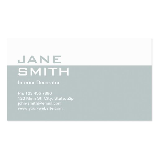 Elegant professional interior design decorator business cards for Professional interior decorator