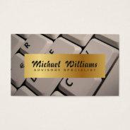Elegant Professional Keyboard Computer Writer Business Card at Zazzle