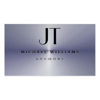 ELEGANT PROFESSIONAL METAL MODERN SIMPLE BLACK BUSINESS CARD TEMPLATE