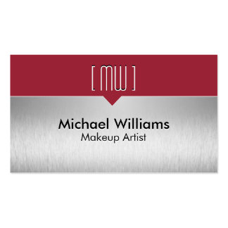 Elegant Professional Metal Red Steel Red wine Double-Sided Standard Business Cards (Pack Of 100)