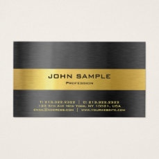 Elegant Professional Modern Black and Gold Gloss Business Card