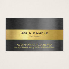 Elegant Professional Modern Black and Gold Matte Business Card