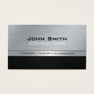 Elegant Professional Modern Black Silver Metal Business Card