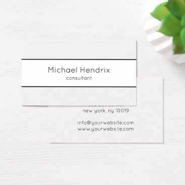 Elegant Professional Modern Consultant Business Business Card