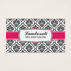 Elegant Professional Modern Damask Floral Pattern Business Card at Zazzle