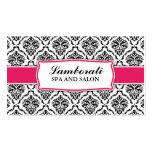 Elegant Professional Modern Damask Floral Pattern Business Card Template