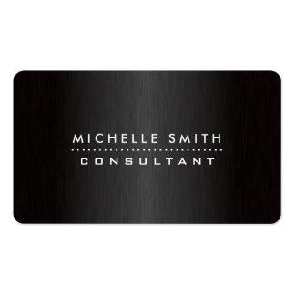 Elegant Professional Modern Makeup Artist Black Double-Sided Standard Business Cards (Pack Of 100)