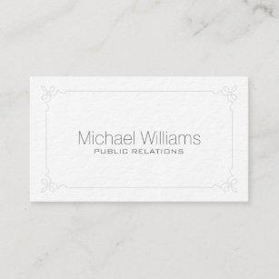 Public relations business cards zazzle elegant professional modern minimalist target business card colourmoves