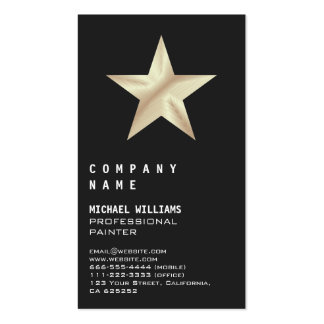 Elegant professional Modern Star Sea bream Metal Double-Sided Standard Business Cards (Pack Of 100)