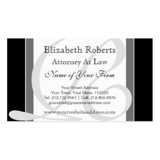 Elegant Professional Monogram R Black and Gray Double-Sided Standard Business Cards (Pack Of 100)